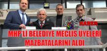 MHP'li Belediye Meclis Üyeleri Mazbatalarını Aldı…