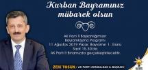 AK PARTİ BAYRAMLAŞMA PROGRAMI BELLİ OLDU