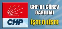 CHP'DE GÖREV DAĞILIMI