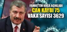 CAN KAYBI 75 VAKA SAYISI 3629