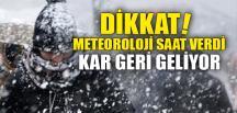 KAR GERİ GELİYOR