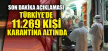 11.269 KİŞİ KARANTİNA ALTINDA