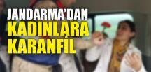 JANDARMA'DAN KADINLARA KARANFİL ÇİÇEĞİ