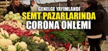 SEMT PAZARLARINDA CORONA ÖNLEMİ