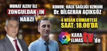 ZONGULDAK'TA CORONA VİRÜS BU AKŞAM KARAELMAS TV'DE