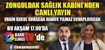 ZONGULDAK SAĞLIK KABİNİ'NDEN CANLI YAYIN