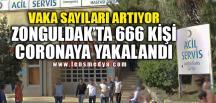 ZONGULDAK'TA 666 KİŞİ CORONAYA YAKALANDI