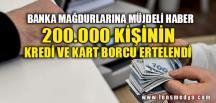 BANKA MAĞDURLARINA MÜJDELİ HABER
