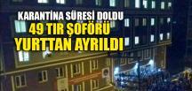 TIR ŞOFÖRLERİ YURTTAN AYRILDI